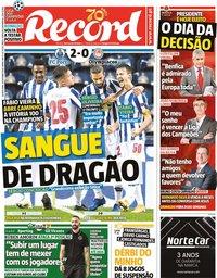 capa Jornal Record de 28 outubro 2020