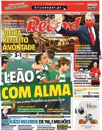 capa Jornal Record de 29 outubro 2020