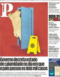 capa Público de 15 outubro 2020