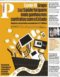 capa Público de 21 outubro 2020
