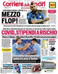 capa Corriere dello Sport de 1 novembro 2020