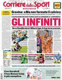 capa Corriere dello Sport de 2 novembro 2020