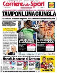 capa Corriere dello Sport de 5 novembro 2020