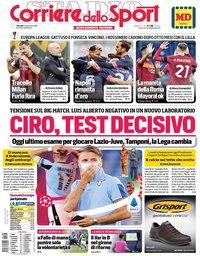 capa Corriere dello Sport de 6 novembro 2020