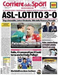 capa Corriere dello Sport de 8 novembro 2020