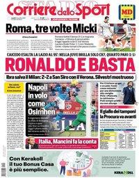 capa Corriere dello Sport de 9 novembro 2020