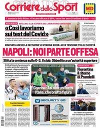 capa Corriere dello Sport de 10 novembro 2020