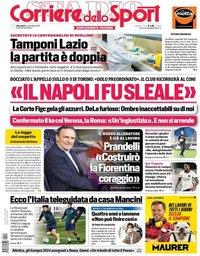 capa Corriere dello Sport de 11 novembro 2020