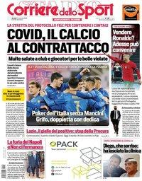 capa Corriere dello Sport de 12 novembro 2020