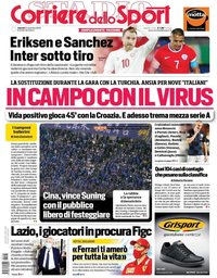 capa Corriere dello Sport de 13 novembro 2020