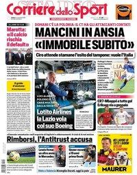 capa Corriere dello Sport de 14 novembro 2020