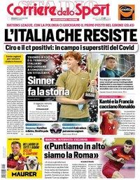 capa Corriere dello Sport de 15 novembro 2020