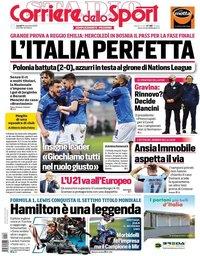 capa Corriere dello Sport de 16 novembro 2020