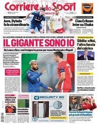 capa Corriere dello Sport de 17 novembro 2020