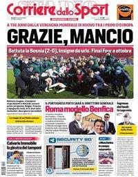 capa Corriere dello Sport de 19 novembro 2020