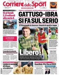 capa Corriere dello Sport de 20 novembro 2020