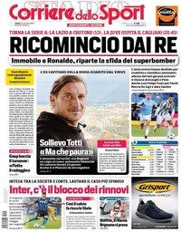 capa Corriere dello Sport de 21 novembro 2020