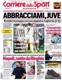 capa Corriere dello Sport de 22 novembro 2020