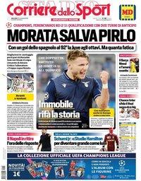 capa Corriere dello Sport de 25 novembro 2020