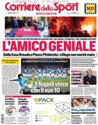 capa Corriere dello Sport de 27 novembro 2020