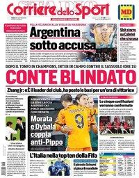 capa Corriere dello Sport de 28 novembro 2020