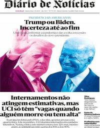 capa Diário de Notícias de 4 novembro 2020