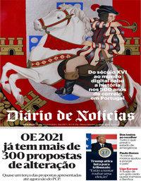 capa Diário de Notícias de 6 novembro 2020