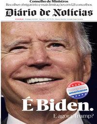 capa Diário de Notícias de 8 novembro 2020