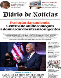capa Diário de Notícias de 11 novembro 2020