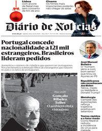 capa Diário de Notícias de 12 novembro 2020