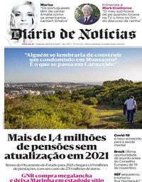 capa Diário de Notícias de 16 novembro 2020