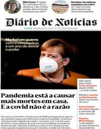 capa Diário de Notícias de 18 novembro 2020
