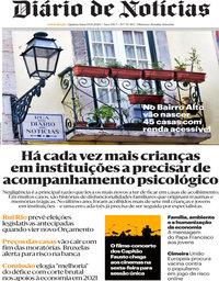 capa Diário de Notícias de 19 novembro 2020