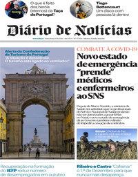 capa Diário de Notícias de 20 novembro 2020