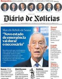 capa Diário de Notícias de 21 novembro 2020