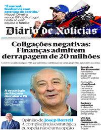 capa Diário de Notícias de 23 novembro 2020