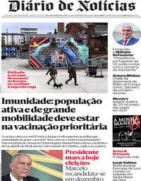 capa Diário de Notícias de 24 novembro 2020
