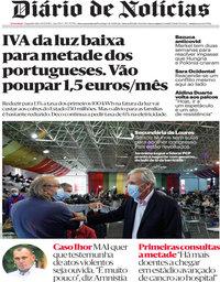 capa Diário de Notícias de 30 novembro 2020