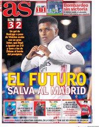 capa Jornal As de 4 novembro 2020