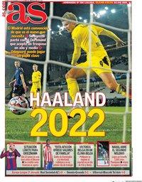 capa Jornal As de 6 novembro 2020