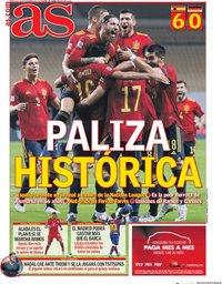 capa Jornal As de 18 novembro 2020