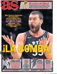 capa Jornal As de 23 novembro 2020