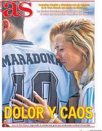 capa Jornal As de 27 novembro 2020