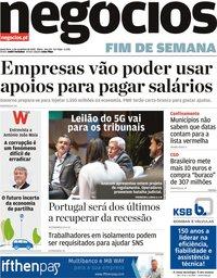 capa Jornal de Negócios de 6 novembro 2020