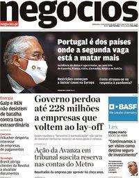 capa Jornal de Negócios de 12 novembro 2020