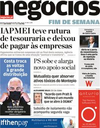 capa Jornal de Negócios de 13 novembro 2020