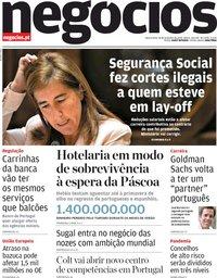 capa Jornal de Negócios de 18 novembro 2020