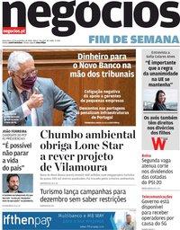 capa Jornal de Negócios de 27 novembro 2020