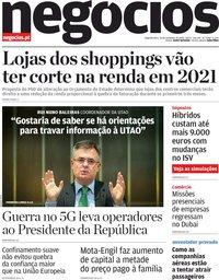 capa Jornal de Negócios de 30 novembro 2020