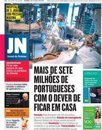 capa Jornal de Notícias de 1 novembro 2020